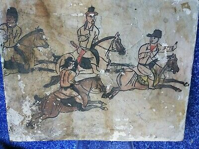 18c Victorian CARVED Chinese Japanese Korean painting miniature AMULET antique