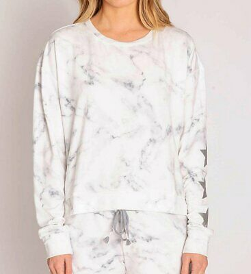 PJ Salvage RNMLLS Marble Lounge French Terry Long Sleeve Top
