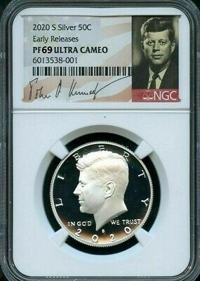 2020 S 50c SILVER Kennedy Half Dollar - NGC PF69 ULTRA CAMEO Early Releases