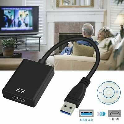 USB 3.0 to HDMI Adapter Cable Male to Female Video 1080P PC For TV HDTV Laptop