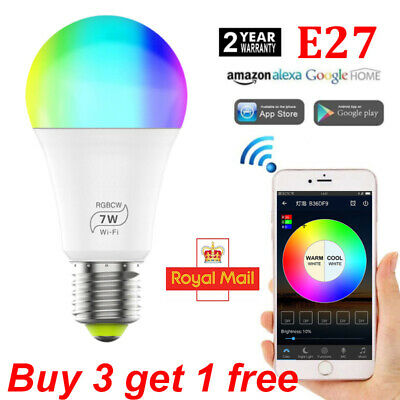 2 x 10w B22 Bayonet LED Smart WiFi