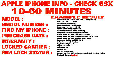 Apple iPhone Carrier Check SIM Lock Status/Carrier/Find My iPhone [GSX Report] !