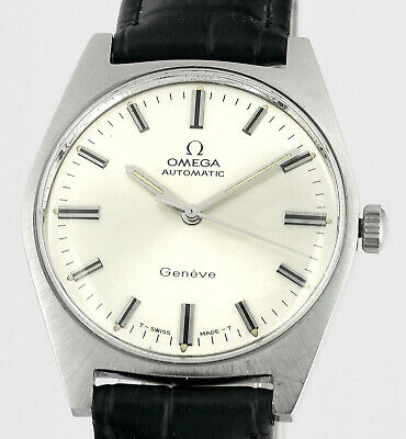 1971 OMEGA Geneve Automatic Calibre 552 Stainless Steel Vintage Mens Wrist Watch
