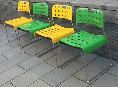4 x Original Ronney Kinsman Stühle  OMKSTAK Metall old chairs