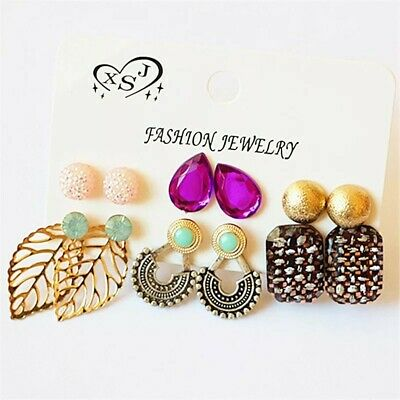 A Set Of 6 Pairs Different Style  Ear Studs Earrings Allergy Free Wholesale UK