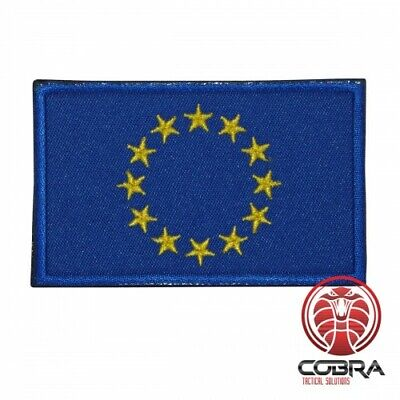 Flag European Union EU military embroidered patch with velcro
