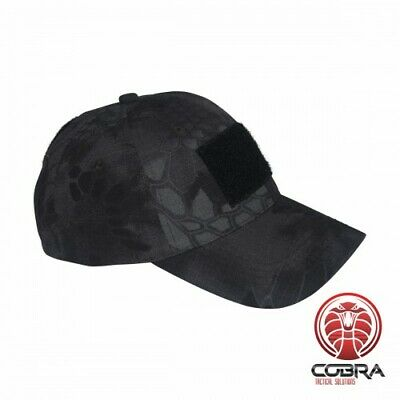 GOLRAD CAP | 2 Velcro Patches | Black Python Camo | One size fits all