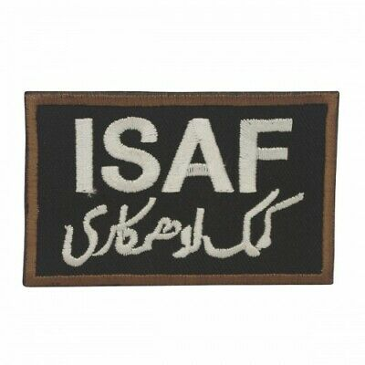 Military Embroidery ISAF Patch black with velcro