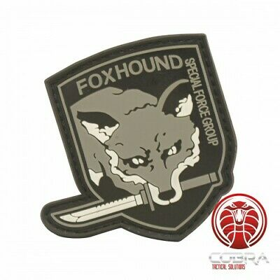 FOXHOUND | Special Force Group 3D PVC patch grey with velcro