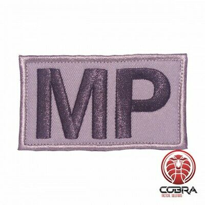 MP Military Police gray embroidered Patch