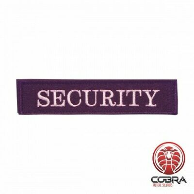 Security embroidered patch with velcro