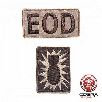 Explosive Ordnance Disposal EOD brown embroidered military patch with velcro