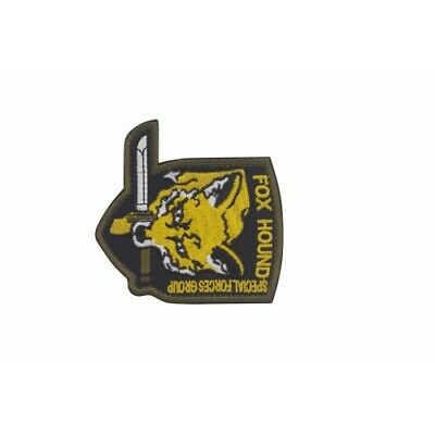 Military Embroidery Foxhound Patch yellow with velcro