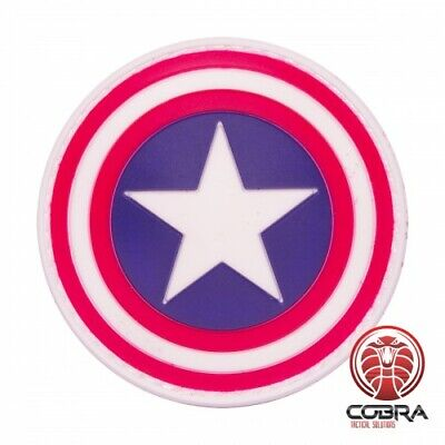 Captain America shield Avengers movie cosplay PVC patch with velcro