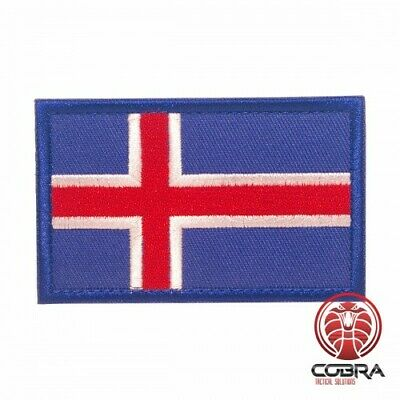 Country Flag Iceland embroidered patch | Velcro | Military Airsoft