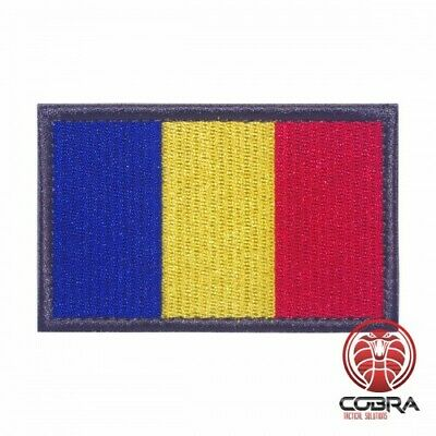 Country Flag Romania embroidered patch | Velcro | Military Airsoft