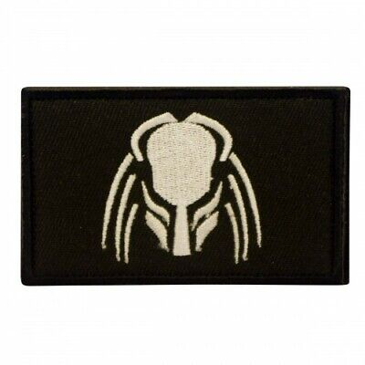 Predator black Cosplay Movie Embroidered Patch with velcro