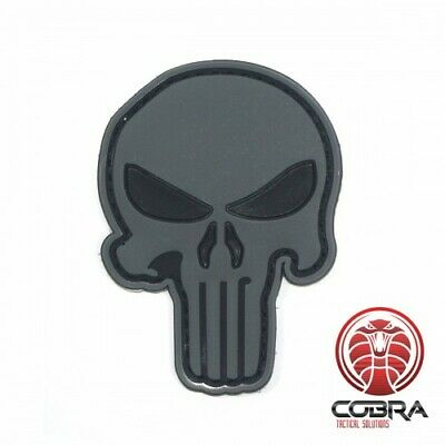 3D PVC Punisher's patch Gray Large with velcro