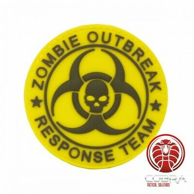 Zombie Outbreak * Response Team 3D PVC Patch Yellow with velcro