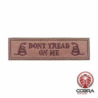 Don't tread on me brown green embroidered military patch with velcro