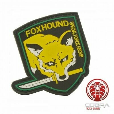 FOXHOUND | Special Force Group 3D PVC patch yellow with velcro