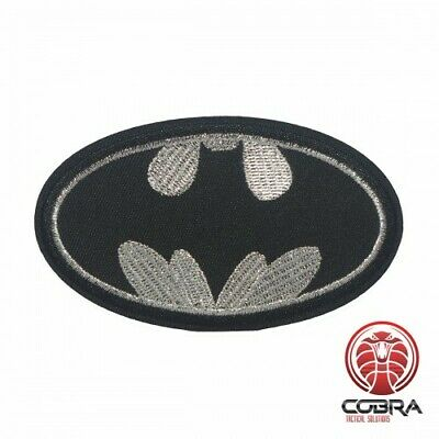Batman silver embroidered movie cosplay patch | Iron On | Military Airsoft
