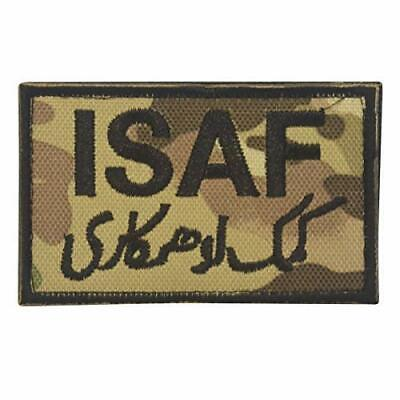 Military Embroidery ISAF Patch camo with velcro
