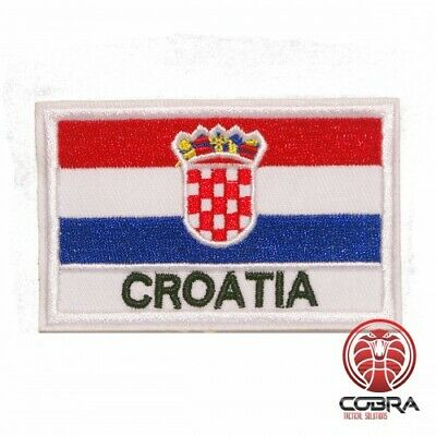 Country Flag Croatia embroidered patch | Iron On | Military Airsoft