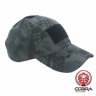 VICTOR CAP | 3 Velcro Patches | Black Python Camo | One size fits all