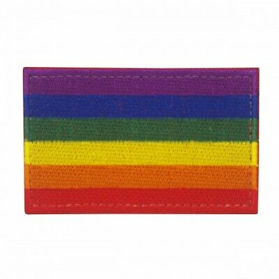 Gay Pride LBGTQ Rainbow Flag embroidered Patch