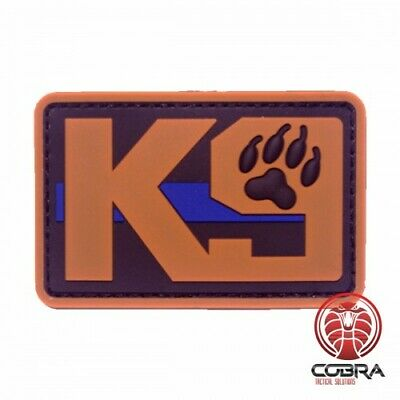 K9 Dog Police Patch black brown blue line with velcro