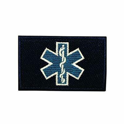 Paramedic Star of Life embroidered Patch blue
