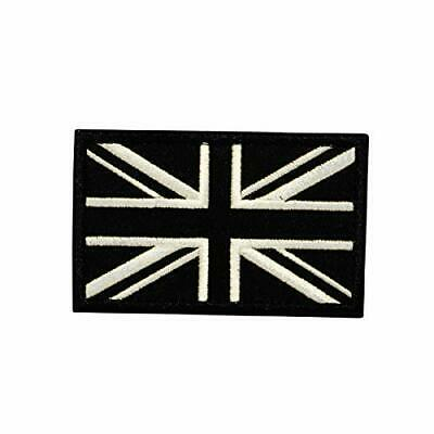 Country flag of the United Kingdom Union Jack embroidered Patch black/white