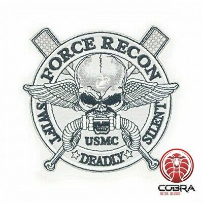 Force Recon * Swift * Silent * Deadly USMC embroidered Patch
