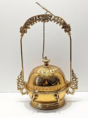 Antique Gold Rockford Silverplate Mechanical Covered Butter Dish Insert 1659