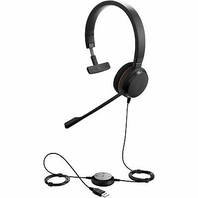Jabra Evolve 20 UC USB Monaural Wired Headset Noise Cancelling Mic 4993-829-209