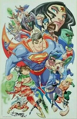 11x17 Justice League ☆SIGNED☆ Poster Print Art by 'The Franchize' Jerry Gaylord