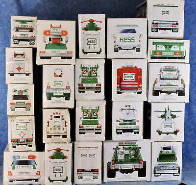 Hess Toy Truck, MIB, 20 Different Years, 1988 to 2013