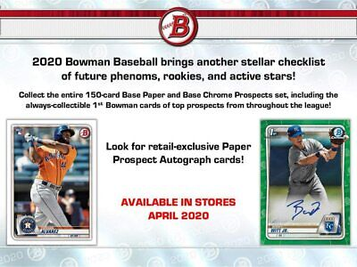 Topps 2020 Bowman Baseball Retail Value Box