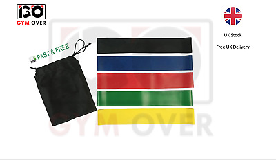 Resistance Bands Exercise Sports Fitness Home Gym Yoga Latex Set Or Singles