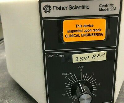 Fisher Scientific Centrific Centrifuge Model 228 With Rotor
