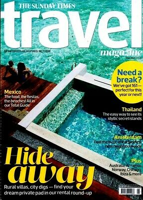 Sunday Times Travel Magazine May 2020 ~ Mexico ~ Amsterdam ~ Thailand & More