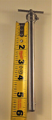"""Ball Lock Pin 7/16"""" (.438) X 5-1/4"""" Stainless Steel Qrp5C07T52 - Tee-Handle, New"""