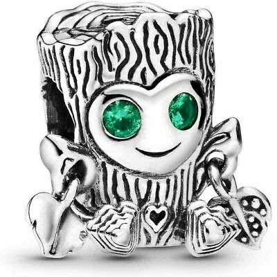 New Authentic Genuine Silver PANDORA Sweet Tree Monster Charm798260NRG,S925 ALE