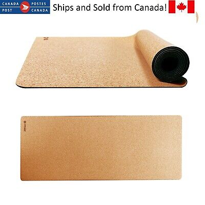 Cork Rubber Yoga Mat by Reach Fitness – Comes with Carry Strap