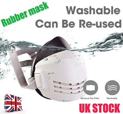 Rubber Gas Cover Paint Chemical Mask Half Face Respirator Gas Mask UK NEW 2020