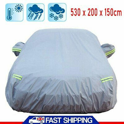 Universal Waterproof Full Car Cover Heavy Duty Breathable Snow UV Dust Protect