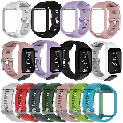 Replacement Watch Strap for TomTom Runner 2/3 Spark 3 Silicone Band Wristband