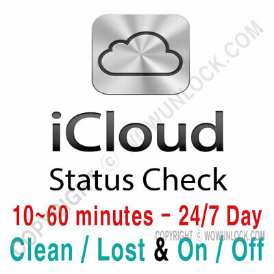 iPhone iPad APPLE Watch ICLOUD Find My IPhone STATUS CHECK BY SERIAL NUMBER SN