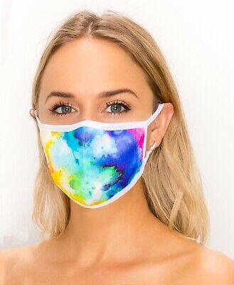 Fashionable Knitted Face Mask in Ladies Bright Colors, Washable & Reusable